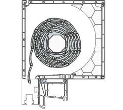 Cajón persiana PVC RolaPlus esquema