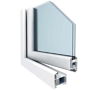 Sección ventana PVC KBE 700mm